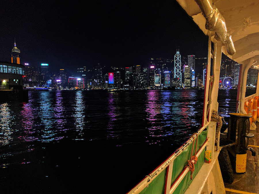 HK from TST on the Star Ferry
